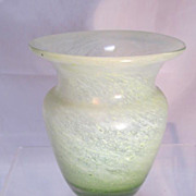 Antique Vaseline Glass Vase
