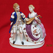 SALE Porcelain Figurine by Maruyama of a couple