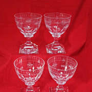 SALE Four Baccarat Crystal Glasses