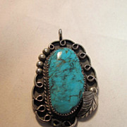Vintage Native American Turquoise Pendant