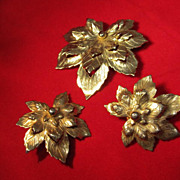 Unusual Sarah Coventry Gold-Tone Set