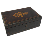 Antique Inlaid Wood Box