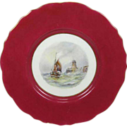 Royal Crown Derby Cabinet Plate by W E J Dean