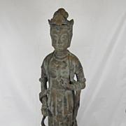 SALE Primitive Cast Iron Chinese Guanyin figure