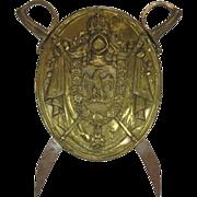 Antique Shield Brass Napoleon III Paris