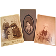 Three Old Cabinet cards