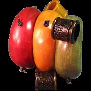 Three Bangle Bracelet Wood
