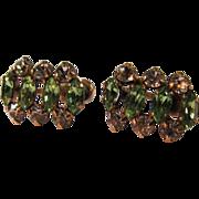 Classic Faux Emerald & Diamond Earrings