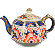 Antique Gaudy Dutch Tea Pot
