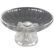 REDUCED Crystal Compote Lalique  : Nogent ""