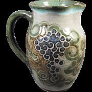 Stoneware Art Pottery Pitcher