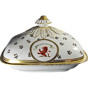 Rare Armorial Worcester Barr Flight Barr Tureen early 19th Century