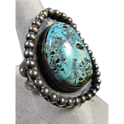 Fine Native American Turquoise and Sterling Ring