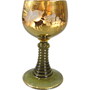 Gilt Cut Glass Wine Hock