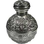 Antique English Sterling/Crystal Perfume Bottle