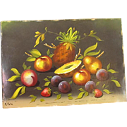 Original Oil on Artist Board of Fruit