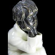 SALE Minton Bronze/Porcelain Figurine Spellbound