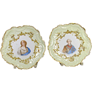 Pair of Limoges Portrait Plates
