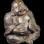 Antique Japanese  Bronze Meiji Hotei