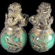 Pair Chinese Fo Lion Stress Balls
