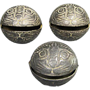 Trio of Old Chinese Metal Bells