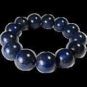 REDUCED Lapis-Lazuli Beaded Bracelet Buddhist-Style