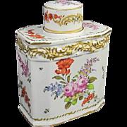 Antique Porcelain Tea Caddy