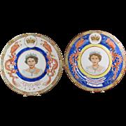 Queen Elizabeth 11 Dragon Coronation Plates