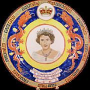 Queen Elizabeth 11 Dragon Coronation Plate