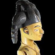 Tall Tribal Wood Female Figure