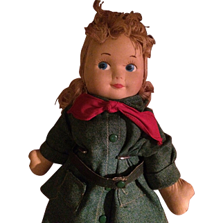 Georgene Novelties Girl Scout Brownie Cloth Doll