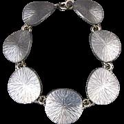 Vintage Jorgen Jensen Modernist Pewter Disc Link Bracelet
