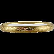 Vintage Gold Filled Hinged Bangle Bracelet By Carl Art