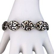 Zina Beverly Hills Sterling Silver Swirl Link Bracelet