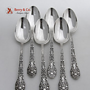 Old Medici 6 Table Spoons Gorham Sterling Silver 1880
