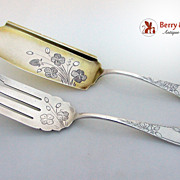 Fish Serving Set sterling Silver Clover Towle 1887