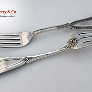 Whiting Ivy 2 Dinner Forks Sterling Silver 1880