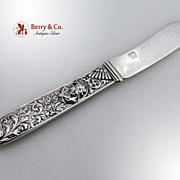 Gorham Figural Master Butter Knife Sterling Silver 1870