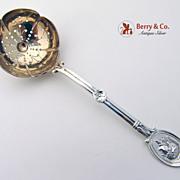 Medallion Sugar Sifter Wendt Sterling Silver 1862