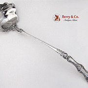Bacchus Large Ornate Punch Ladle Sterling Silver Gorham 1890