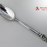 Acorn Grapefruit Spoon Sterling Silver Georg Jensen 1945