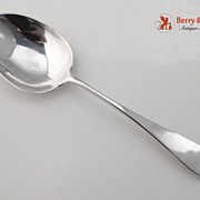Arthur Stone Pointed End Serving Spoon Sterling Silver