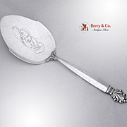 Acanthus Pie Server Sterling Silver Georg Jensen 1945