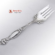 Frontenac Large Cold Meat Fork Sterling Silver 1903 Patent