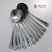 SALE Carmel 11 Gumbo Soup Spoons Wallace Sterling Silver 1912