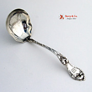 Les Cinq Fleurs Gravy Ladle Reed And Barton sterling Silver 1900