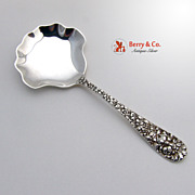 Rose Candy or Nut Spoon Stieff Sterling Silver 1892