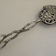 Continental 800 Silver Large Ornate Floral Pastry Tongs