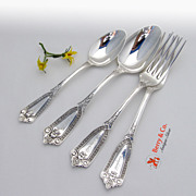 Ivy 4 Piece Set Whiting Sterling Silver 1880