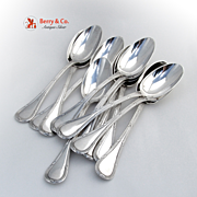 Bougainville Set of 12 Dessert Spoons Sterling Silver Puiforcat